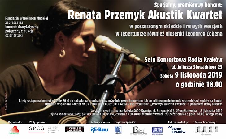 Koncert: Renata Przemyk Akustik Kwartet z aukcją na rzecz Farmy Życia